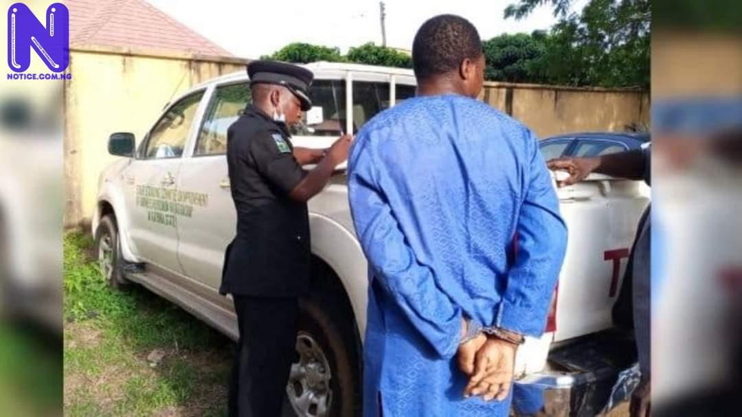 Police nab suspected serial car thief with stolen Katsina SSG's vehicle 1BV8HKD1177408
