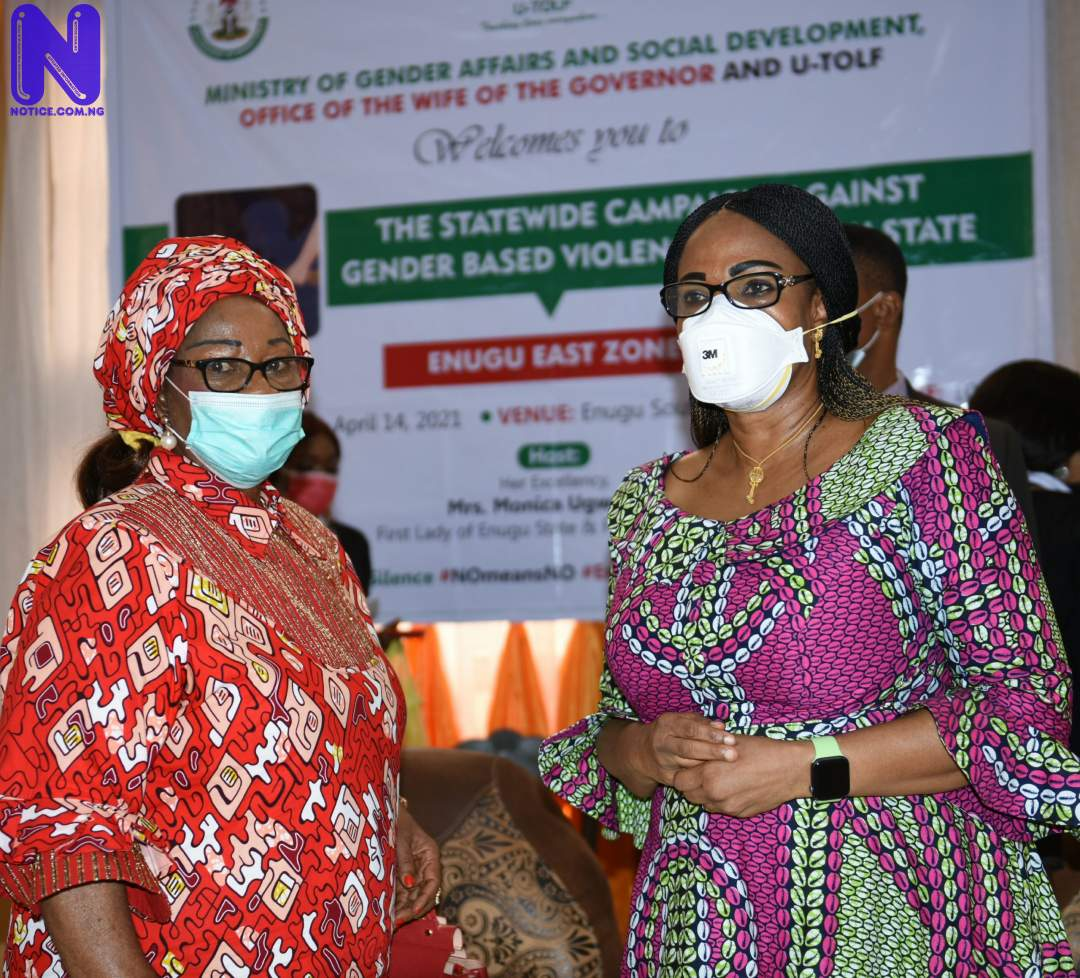 Ugwuanyi's wife campaigns against gender-based violence in Enugu State 20210414 181122-SCALED