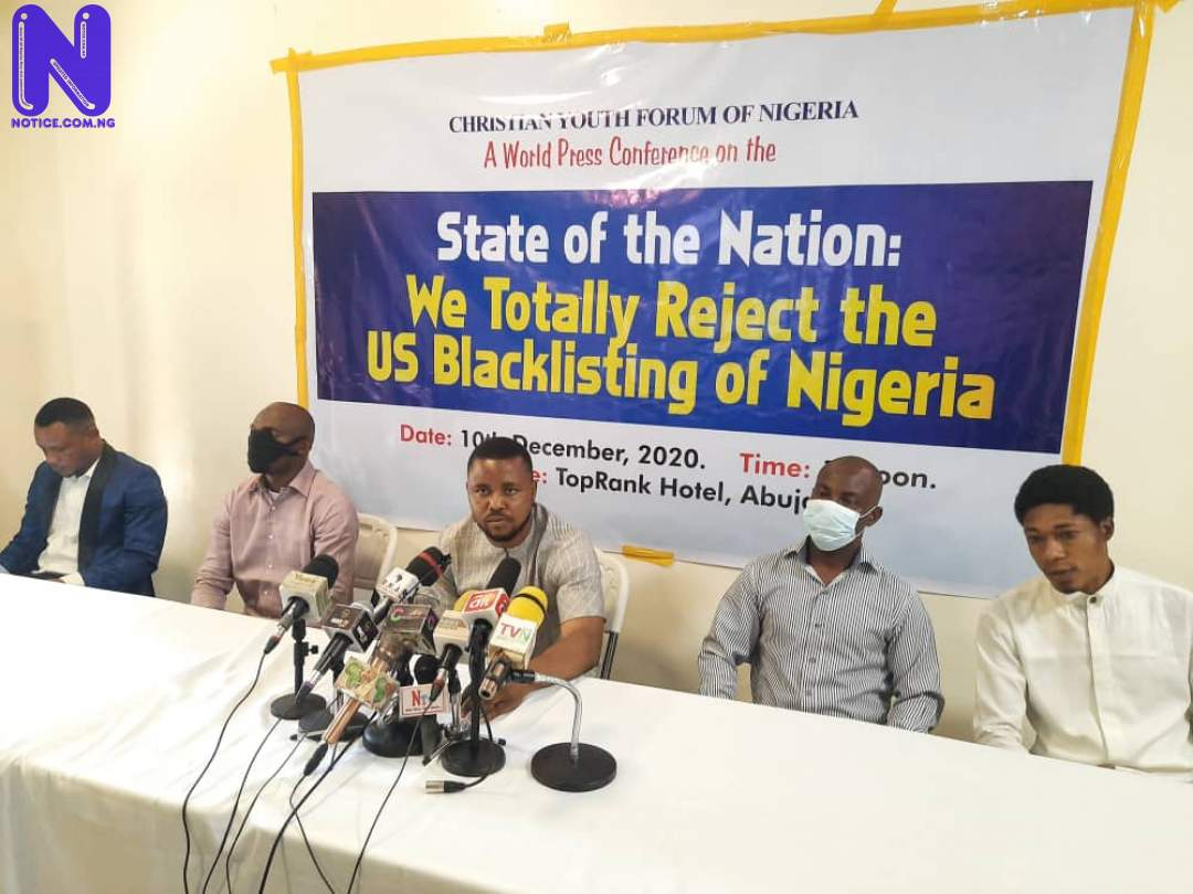 No Nigerian persecuted over religion under Buhari – Christian group to US BLACKLIST-YOUNG-CHRISTIAN-FORUM-OF-NIGERIA-REJECT-US-POSITION-ON-NIGERIA-OVER-RELIGIOUS-INTOLERANCE-1