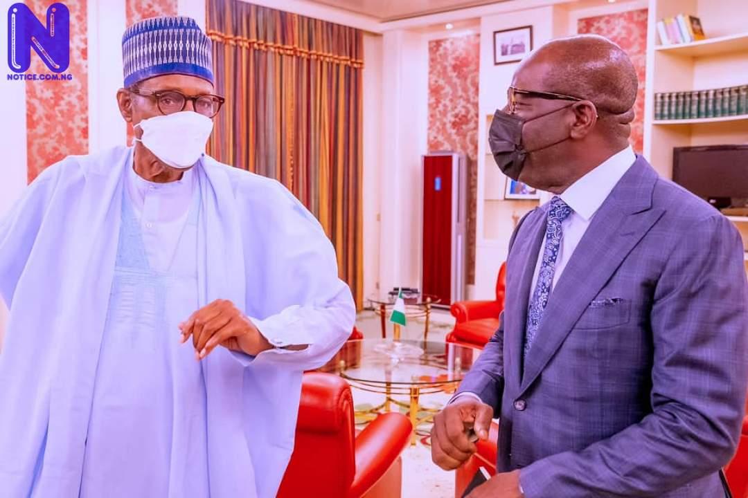 Buhari meets Obaseki in Abuja (PHOTOS) BUHA-AND-OB74224