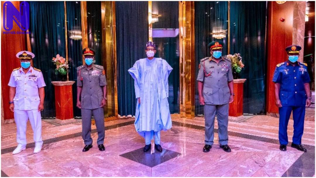 Nigerian military states position on call to take over power from Buhari BUHARI-SERVICE-CHIEFS