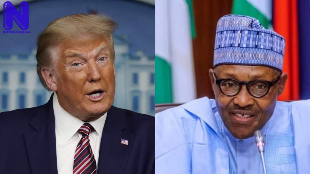 Trump hails Buhari for suspending Twitter BUHARI-TRUMP