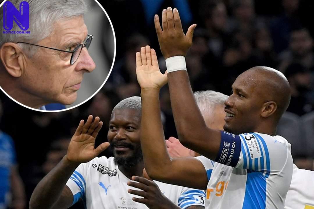 Drogba returns, scores hat-trick against Arsene Wenger's team DROGBA532991