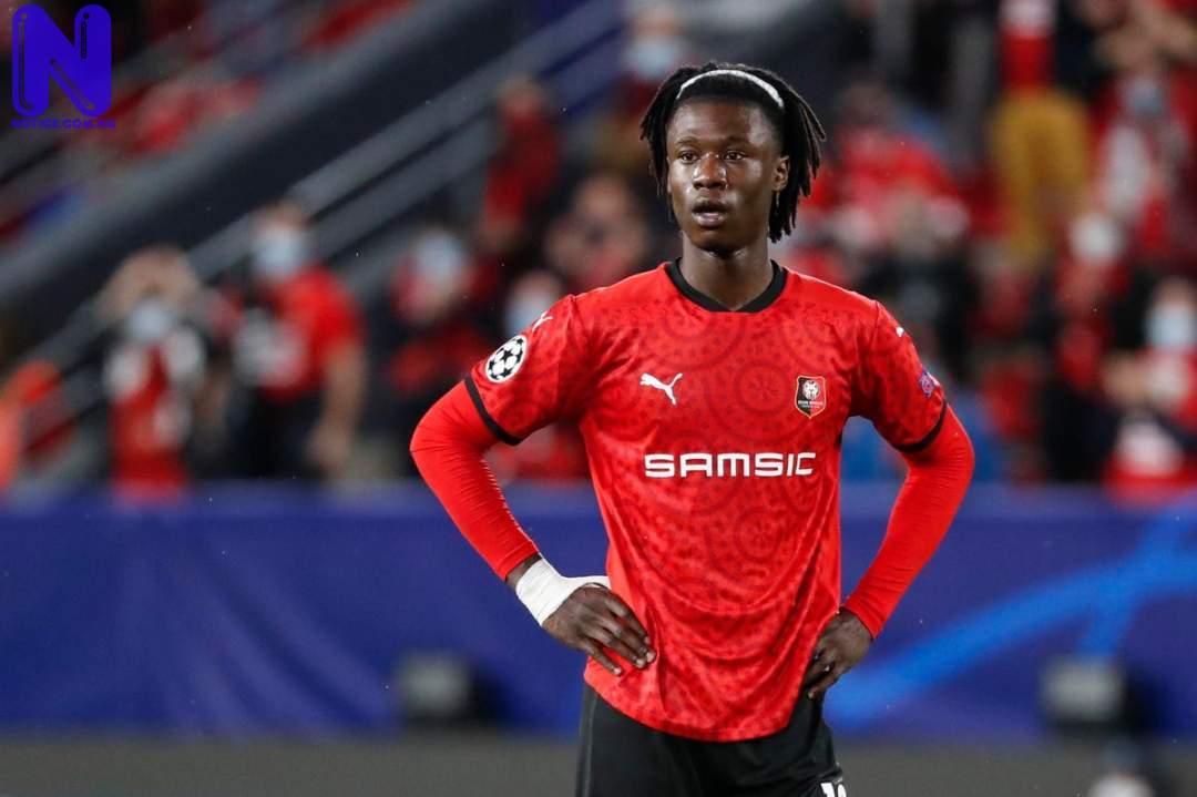 Rennes confirm they are ready to sell Camavinga to Man Utd EDUARDO-CAMAVINGA