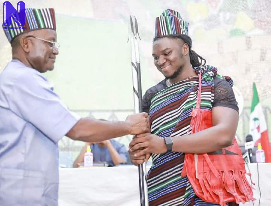 Ortom decorates Francis Atela youth ambassador (PHOTOS) - Nigerian Idol FB IMG 162750330867943356