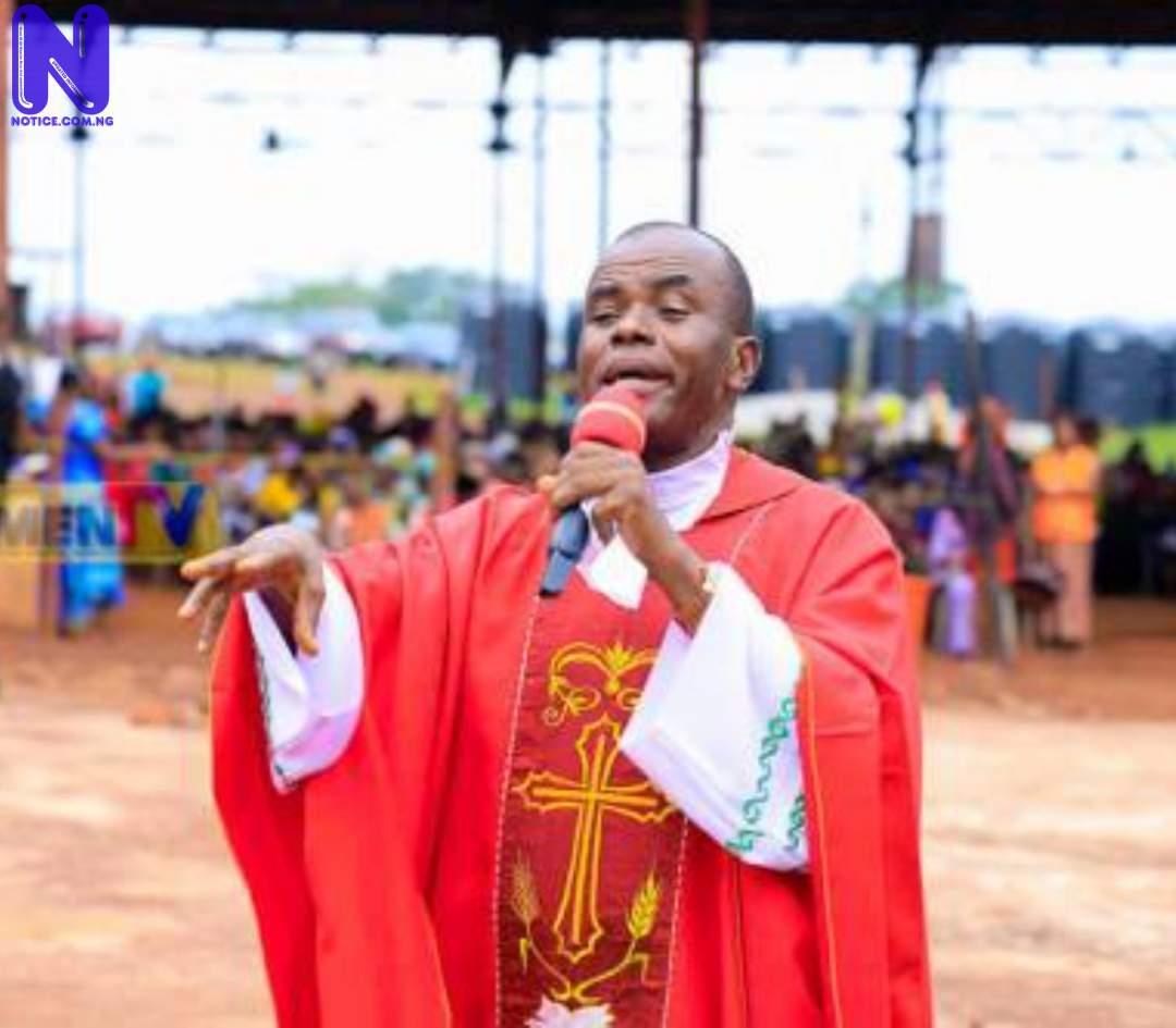 I took three people to Buhari seeking to end insecurity – Fr Mbaka GKU1JA1C