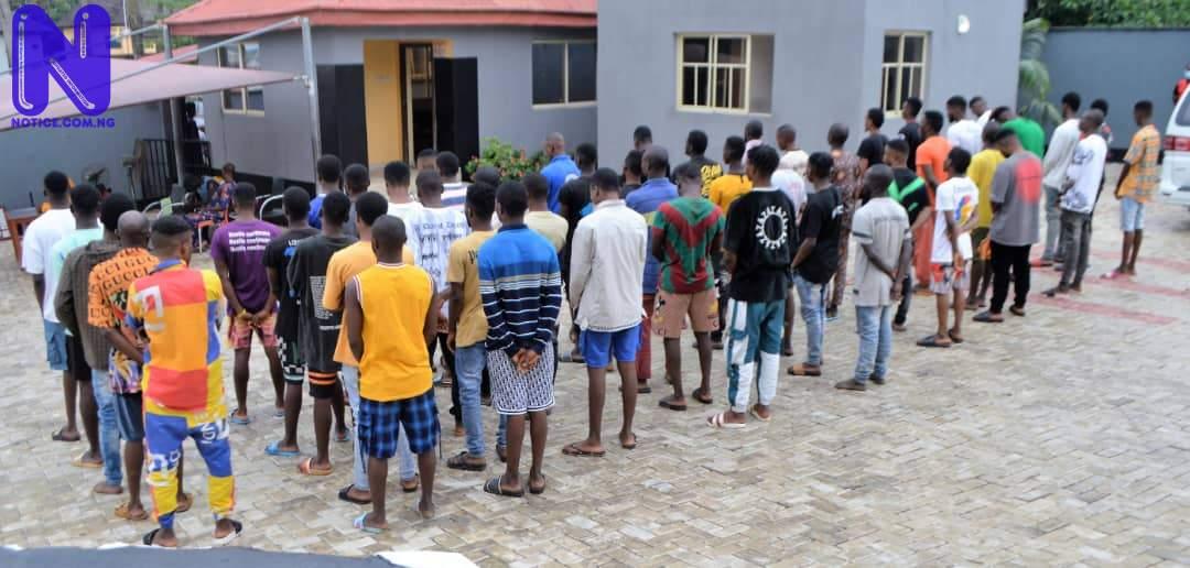 EFCC arrests 50 suspected internet fraudsters in Ibadan IMG-20210604-WA0075