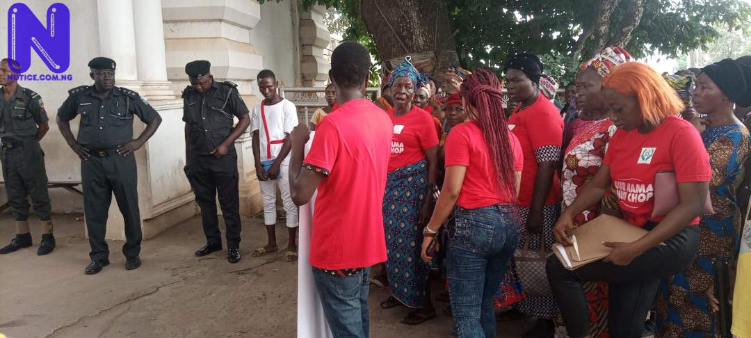 Police in Edo disperse women support rally over fear of hoodlums IMG 20210510 102421 391-SCALED