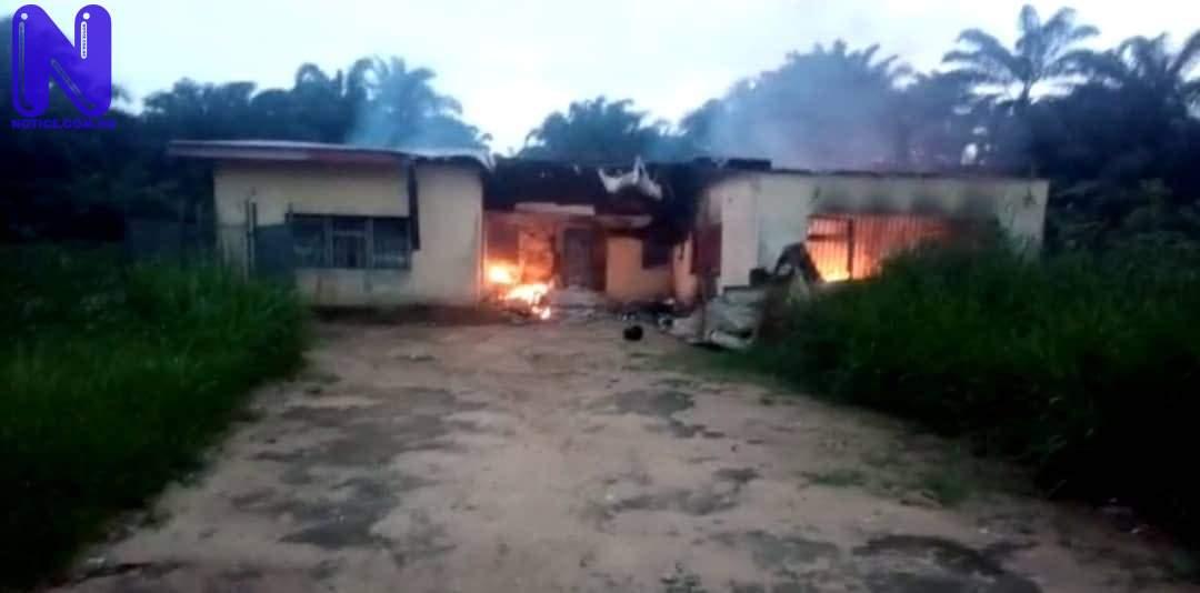 INEC office set ablaze in Akwa Ibom IMG 4183
