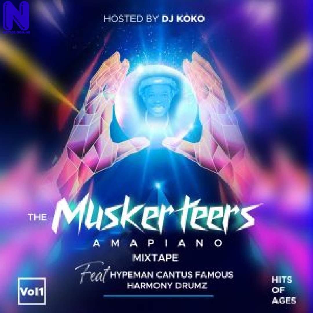Download Mixtape: The Musketeers Amapiano Mixtape (Vol 1) Ft  Hypeman Cantus Famous X Harmony Drumz KOKO-ART-FRONT-300X30022277
