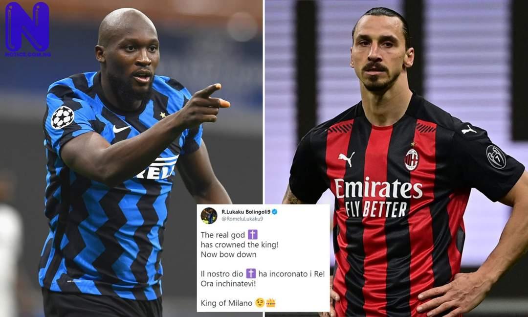 Lukaku tells Ibrahimovic to 'bow down' after Inter Milan win Serie A title LUKAKU-TELLS-IBRAHIMOVIC