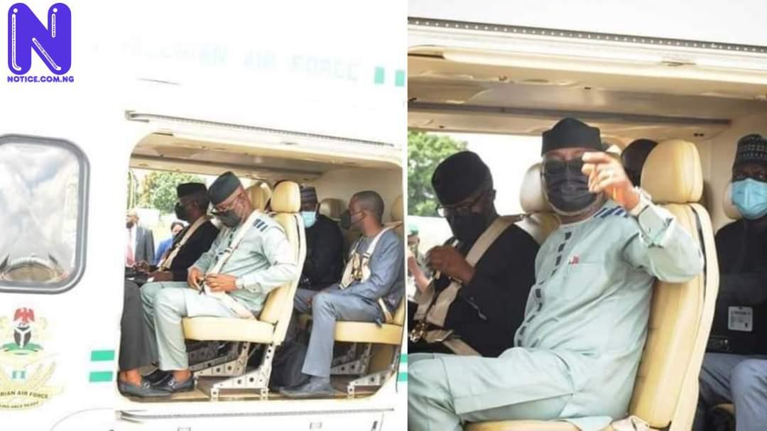 Osinbajo flies over deplorable Akure/Ado road to attend Ekiti summit (PHOTOS) M9VLYIOS159558