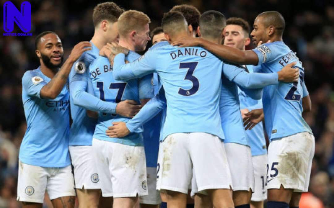 Man City defeats Crystal Palace, move within two points of title - EPL MANCHESTER-CITY