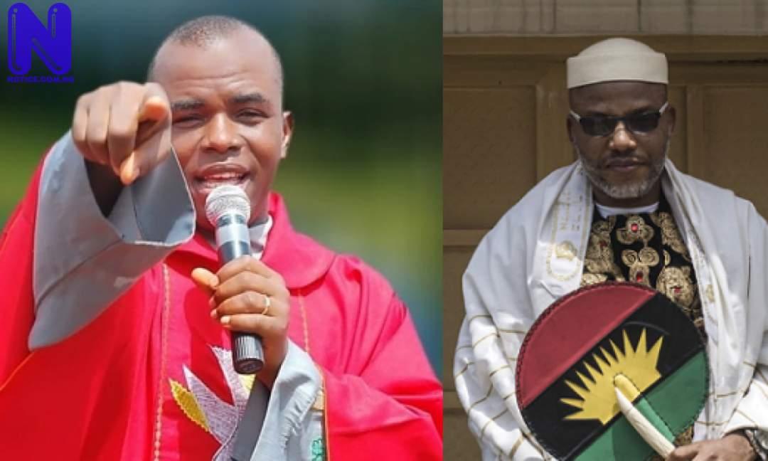 Nnamdi Kanu is my spiritual son, brother – Fr Mbaka declares - Biafra MBAKA-AND-NNAMDI-KANU-1200X720-1