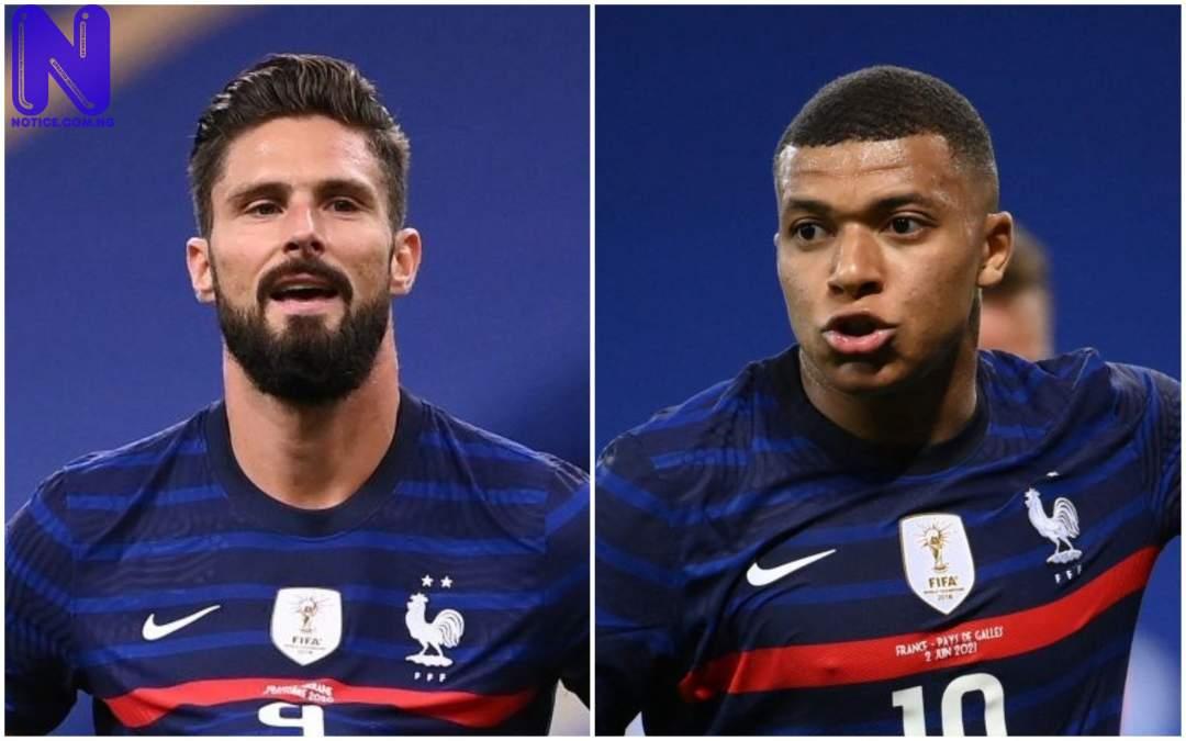 Pogba clears air on 'rift' between France teammates - Mbappe versus Giroud MBAPPE-GIROUD