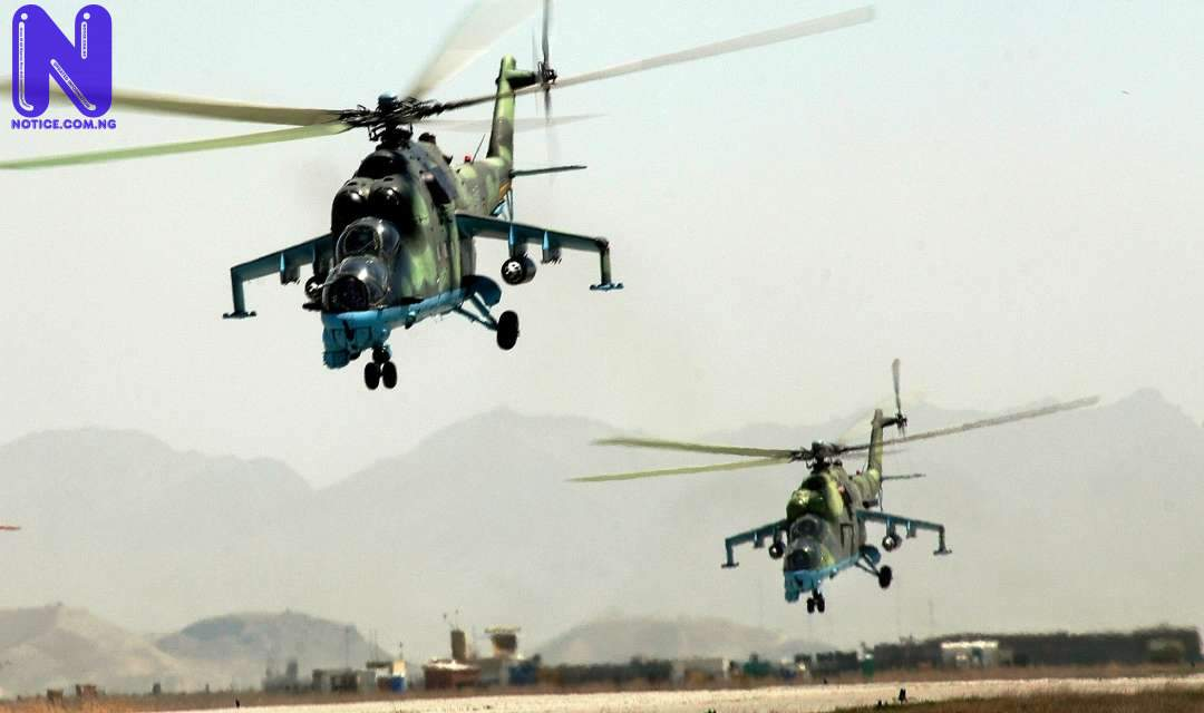 Fear grips Imo residents as military helicopters hover in Owerri NAF-HELICOPTER