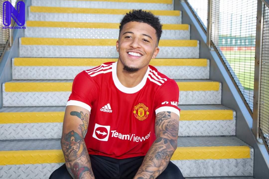 Man Utd star, Jadon Sancho reveals his idols in football NEWFILE-3179019