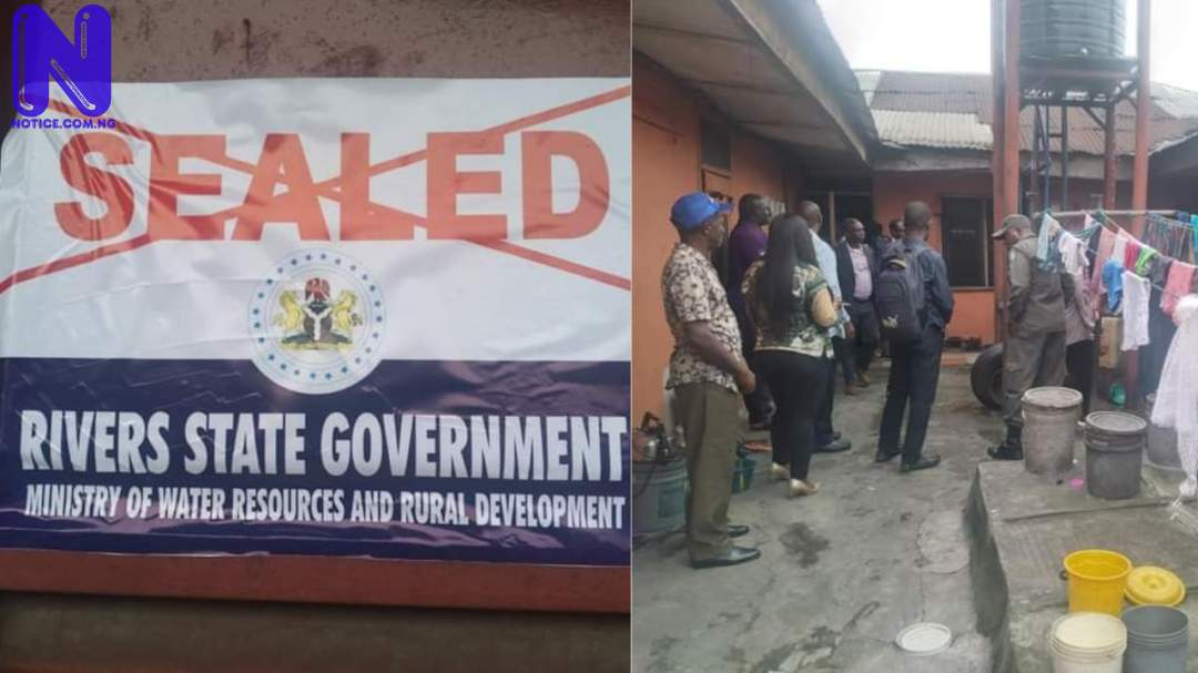 Rivers Government seals 7 water factories in Port Harcourt O4WO0VTG