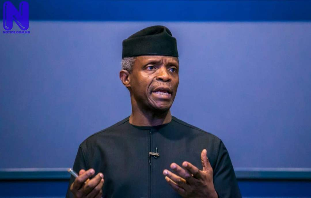 Osinbajo clears air on calling for naira devaluation OSINBAJO-SPEAKING-134599