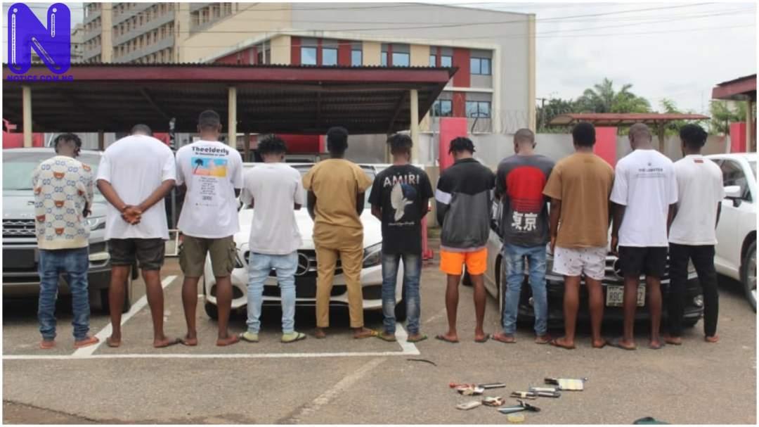 EFCC arrests 11 'Yahoo boys' in Edo PJIMAGE-15200430