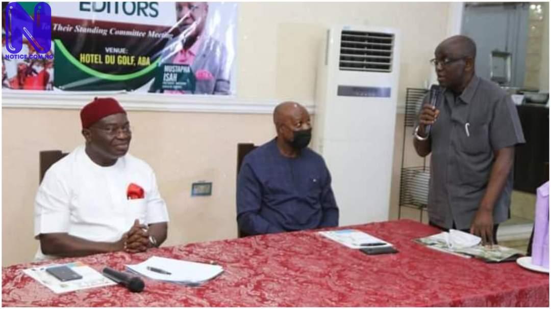 Nigerian Guild of Editors hail Gov Ikpeazu over road projects in Abia RMW27NZC