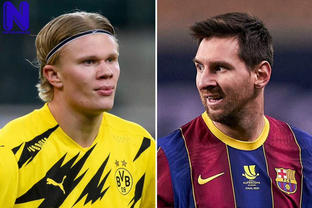 Messi to take pay cut to support Barcelona's move for Haaland SPORT-PREVIEW-ERLING-HAALAND-AND-LIONEL-MESSI