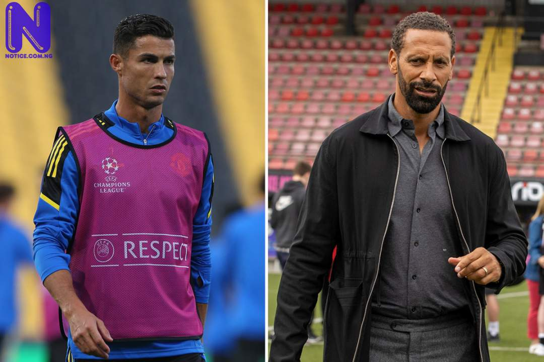 """Rio Ferdinand tells Ronaldo to """"sit down"""" after his actions during Young Boys defeat SPORT-PREVIEW-RONALDO-RIO925689"""