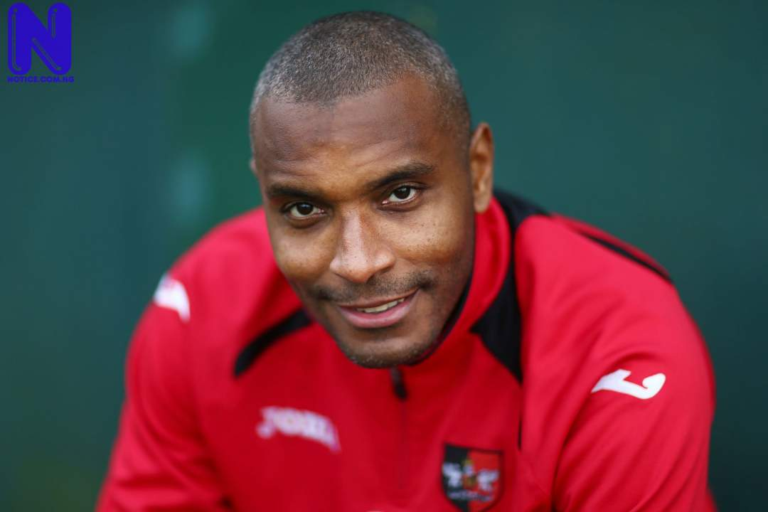 STRIKER CLINTON MORRISON OF EXETER CITY POSES DURING THE EXETER  562669