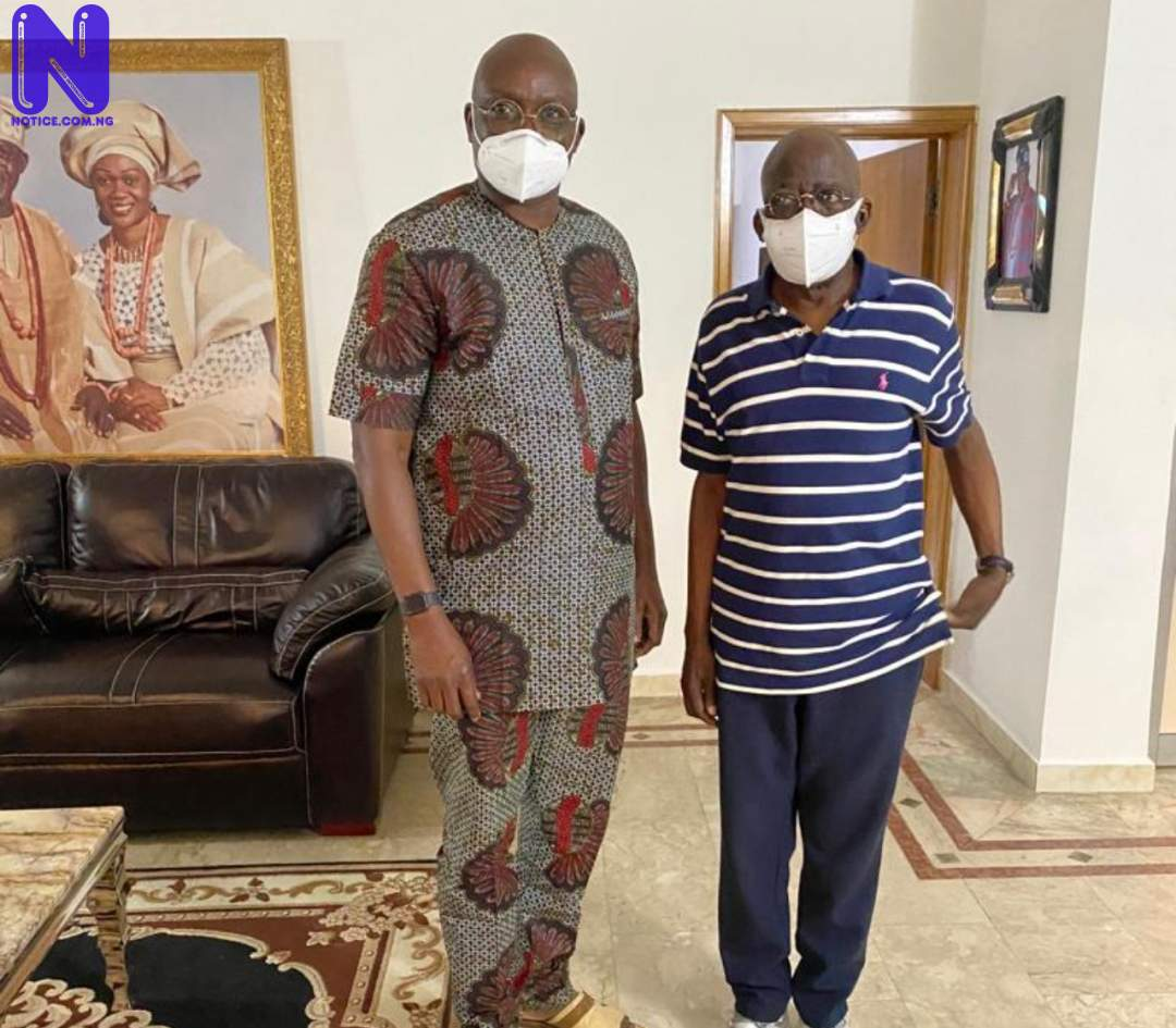 Fayose visits Tinubu in Lagos, says people don't celebrate others when they are alive (PHOTO) SUVLE8TI322973