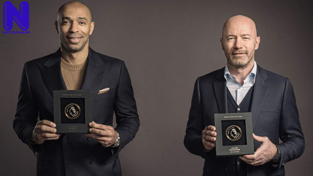 Thierry Henry, Alan Shearer inducted into Premier League's Hall of Fame THIERRY-HENRY-ALAN-SHEARER