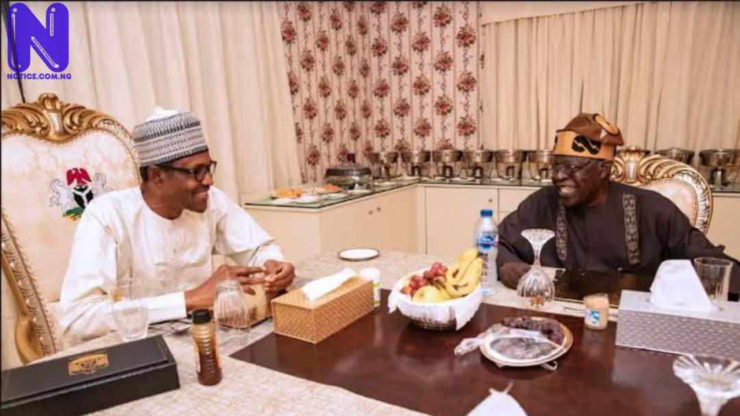 Buhari won't extend his tenure by one hour – Tinubu - 2023 presidency TINUBU-BUHARI-1