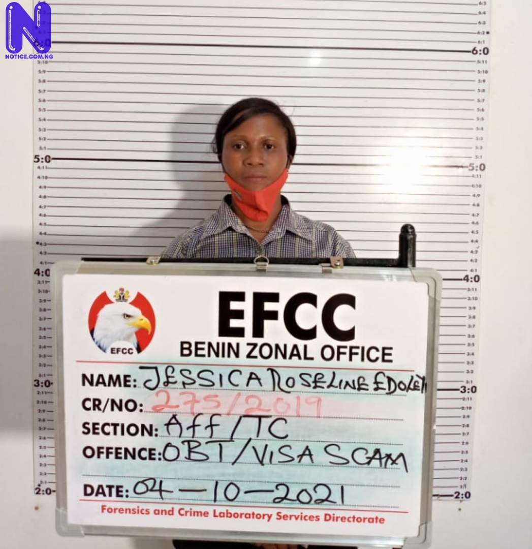 EFCC arraigns lady for N2.5m Canadian visa fraud UMQFZS8V287795
