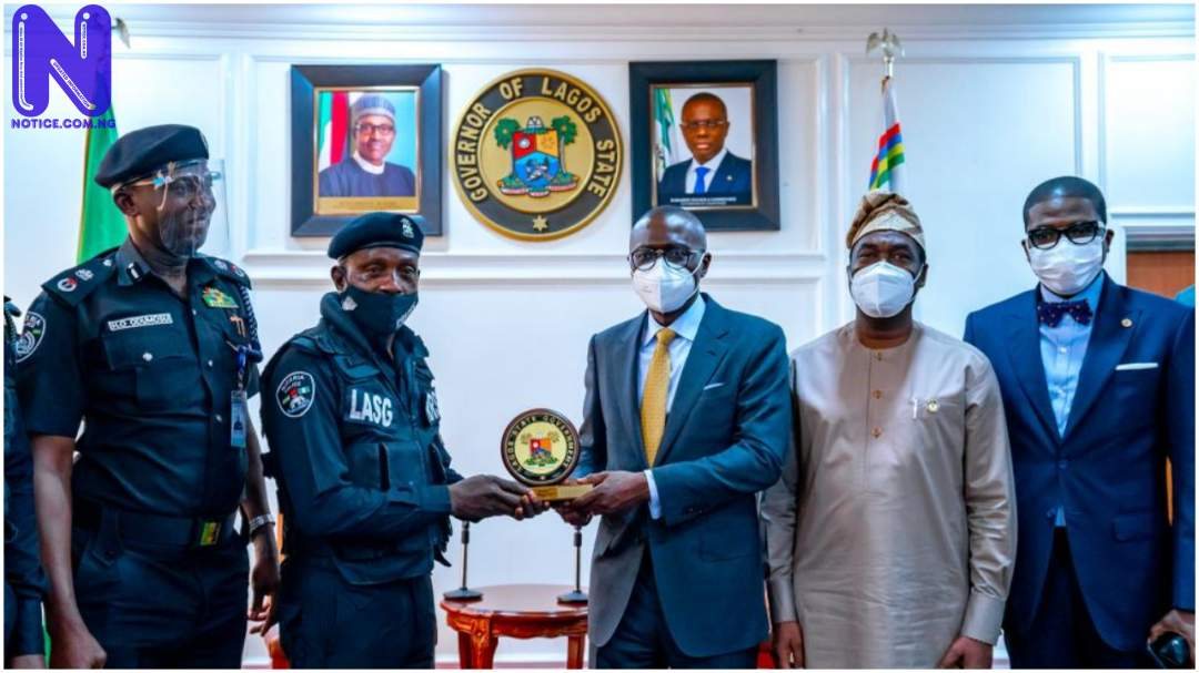 Sanwo-Olu honours police officer assaulted in Lagos YF9RQLQD